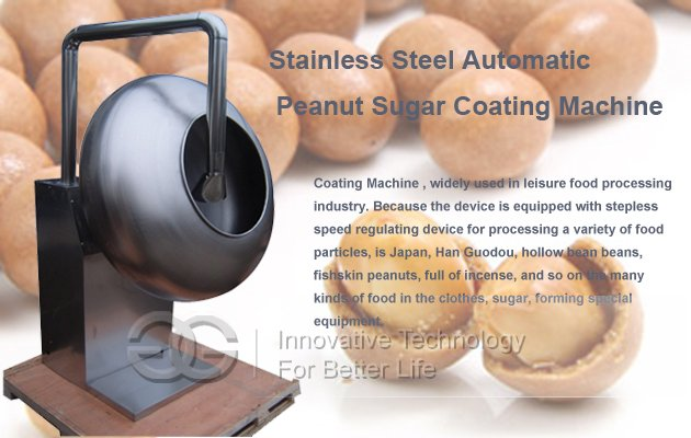 Peanut Coating Machine|automatic peanut coating machine