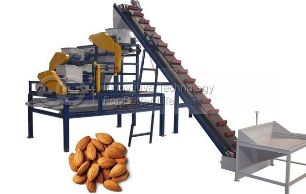 Three Stage Almond Walnut Hazelnut Shelling Machine Equipment