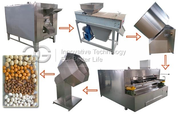 Flour Coated Peanuts Making Machine Production Line