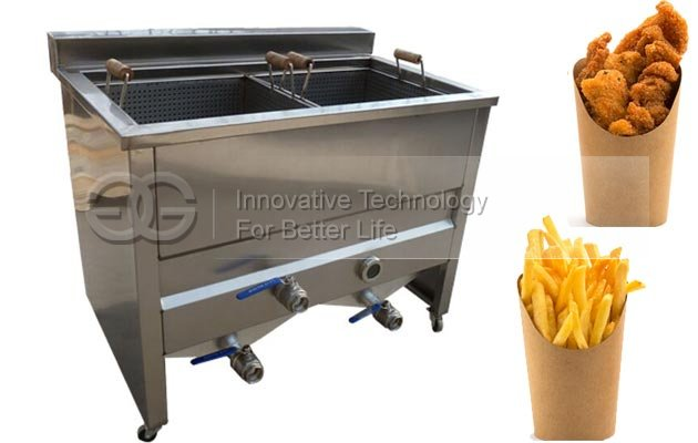 <b>Double Tank Electric Snack Deep Fryer</b>