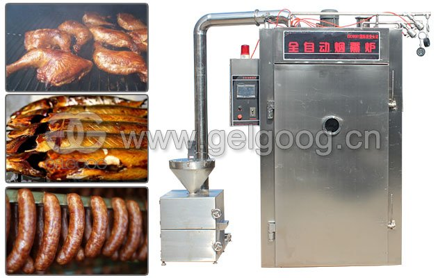Industrial Meat/Fish/Sausage/Chicken Smoking Machine Oven