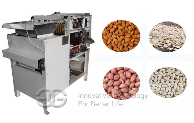 Soaked Almond Skin Removing Machine
