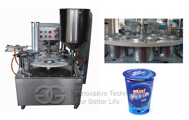Rotary Yogurt Cup Filling Sealing Machine For Sale
