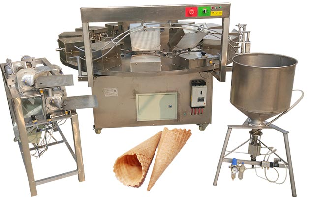 Waffle Ice Cream Cone Production Line