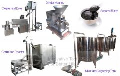 High Efficiency 700kg/h Sesame Tahini Production Line