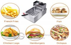 <b>Electric Single Deep Fryer CE Approved</b>