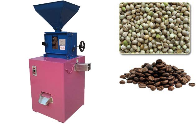 Coffee beans husking machine