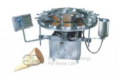 Ice Cream Cone Baking and Rolling machine line