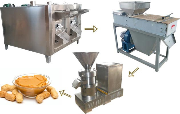 Automatic Small Scale Peanut Butter Production line 100 kg/h
