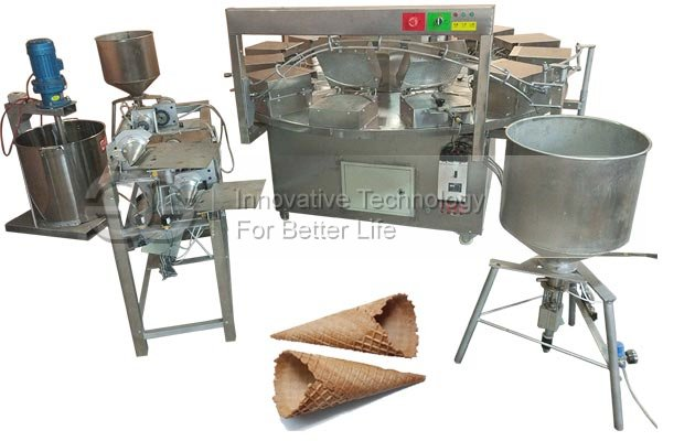 Rolled Ice Cream Cone Baking Machine
