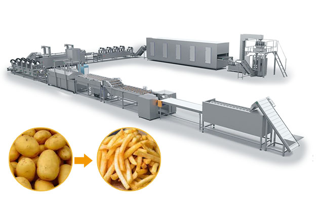 Automatic Frozen French Fries Making Machine Line Manufacturer