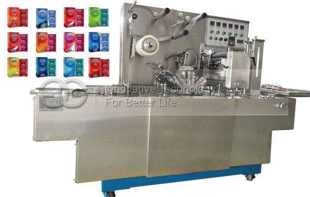 Automatic BOPP Film Overwrapping Machine for Condom Packets with Tear Tape