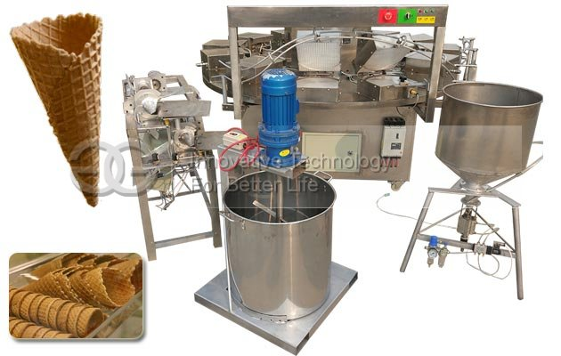 Waffle Ice Cream Cone Making Machine