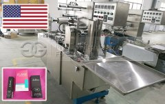 Cosmetics Box Cellophane Wrap Machine to USA