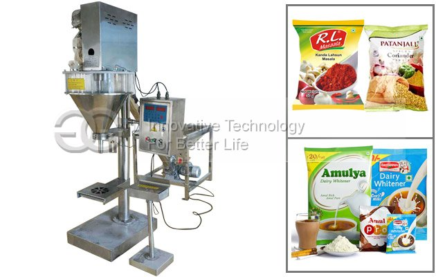 Semi Automatic Spices Powder Filling Packing Machine