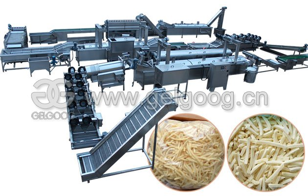 Potato French Fires Production Line