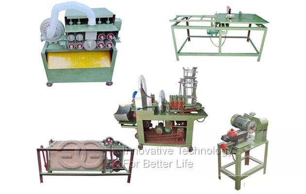Round Disposable Wooden Chopsticks Making Machine Production Line