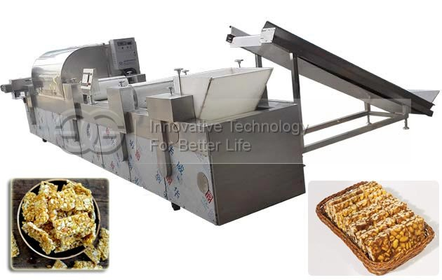 Full Automatic Peanut Brittle Making Machine|Groundnut Chikki Production Line