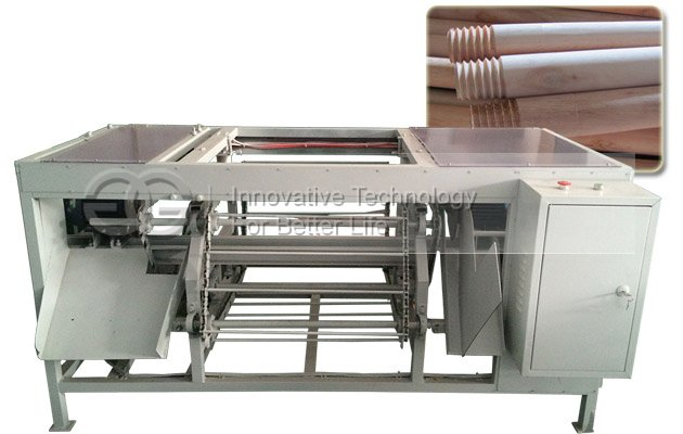 Wood Handle Screw Making Machine|Broom Stick Screwing Machine