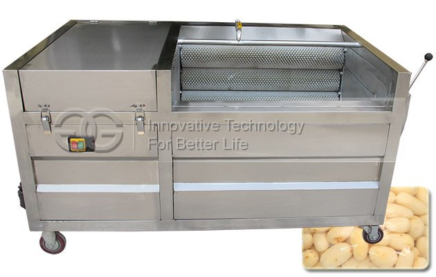 Industrial Potato Washing Peeling Machine with Brush Roller