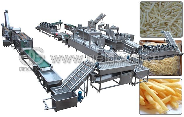 Potato French Fries Making Machine