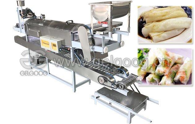 Vietnamese Steam Rice Noodle Roll Steamer Machine