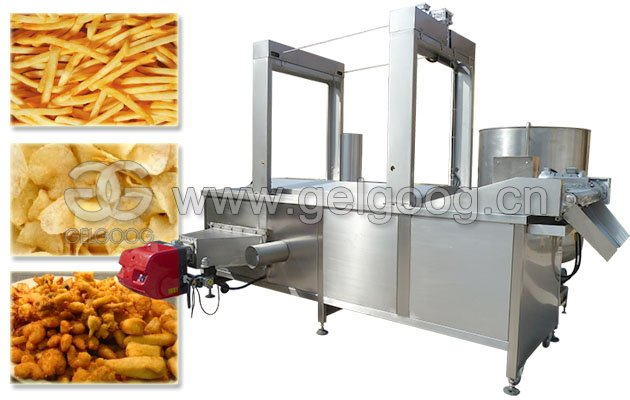 Commercial French Fries Fryer Machine Potato Chips Frying Machine Price