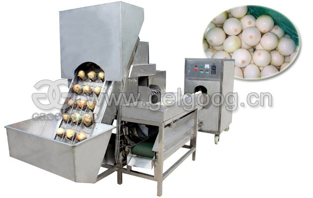 Industrial Onion Skin Peeling Cutting Machine for Sale