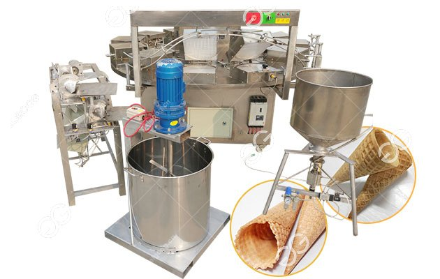 Automatic Waffle Ice Cream Cone Making Business