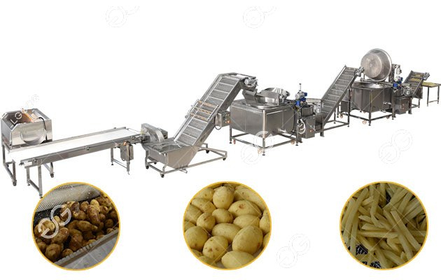 Full Plant French Fries Machine For New Business