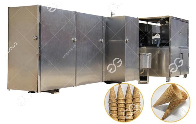 Automatic Gelgoog Ice Cream Cone Production Line 5000 pcs/h