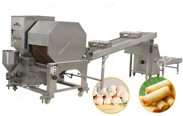Gelgoog Automatic Spring Roll Lumpia Wrapper Making Machine For Sale