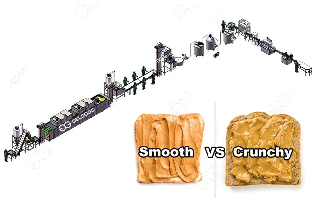 Large Scale Smooth Peanut Butter Production Line 500 kg/h