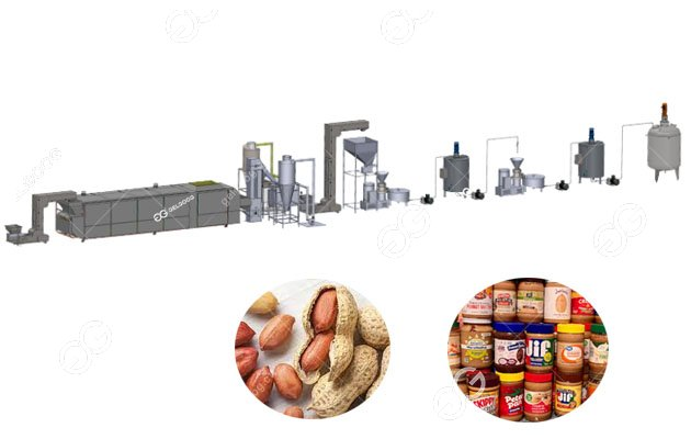 200 Kg/h Stable Peanut Butter Processing Equipment