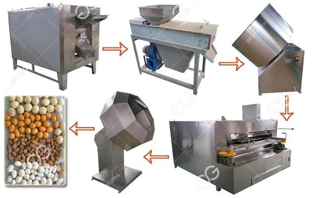 Flour Coated Peanuts Making Machine Production Line