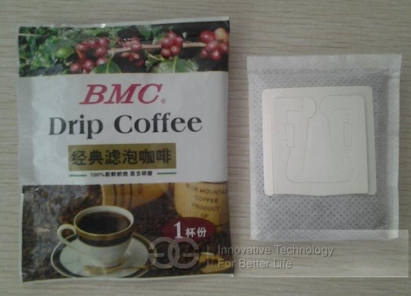 Ear Style Coffee Packing Machine With Double Layer