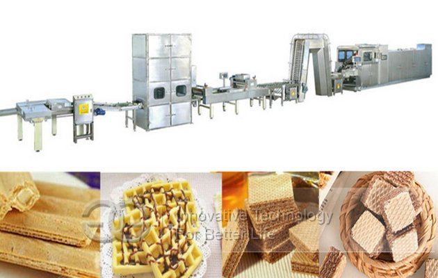 63 Mould Electric Heating Wafer Biscuit Production Line