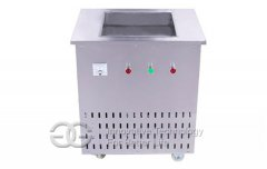 Single Flat Pan Fried Ice Cream Machine
