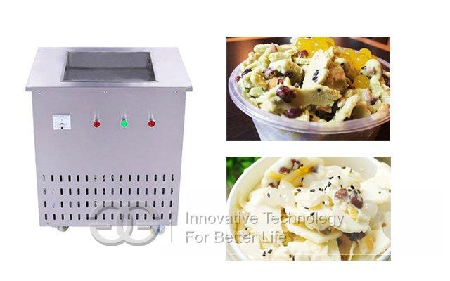 Single Flat Pan Fried Ice Cream Machine