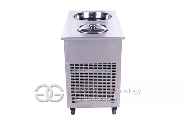 Ice Cream Roll Machine With Single Pan