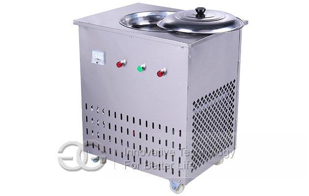 Round Ice Frying Pan Machine