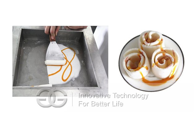 Double Stir Ice Cream Frying Pans Machine