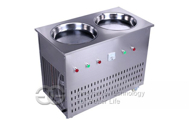 Double Control Stir Ice Cream Frying Machine