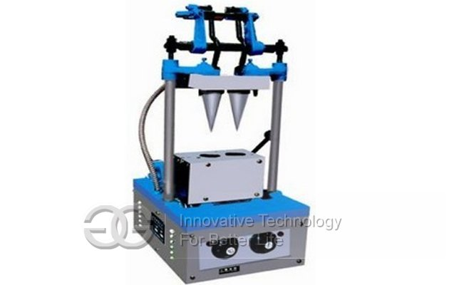 Automatic Commercial Ice Cream Soft Cone Making Machine 2 Head
