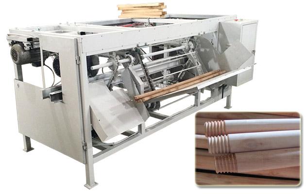 Wood Handle Screw Making Machine|Broom Stick Screwing Machine