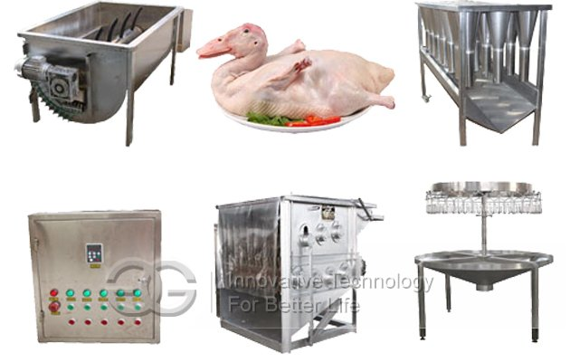 200-300pcs/h Semi-automatic Poultry Slaughtering Production Line