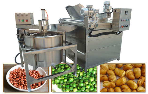 Automatic Gas Heating Peanut Fryer Machine with Filter Function