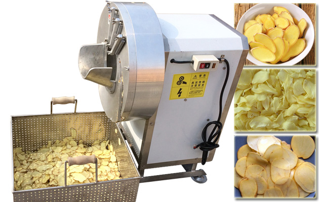 Electric Ginger Slice Cutting Machine Garlic Slicer
