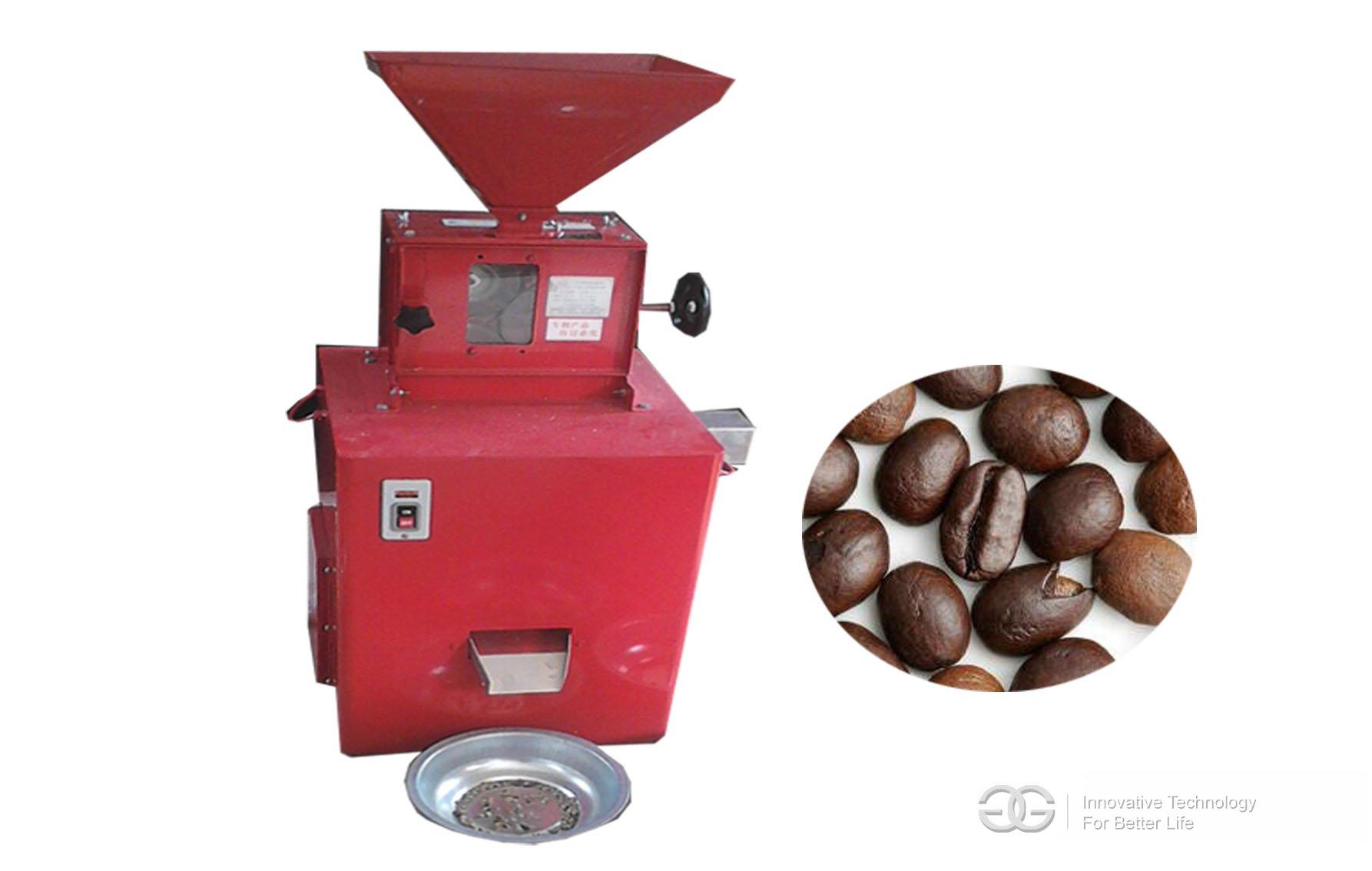 Coffee beans husking machine