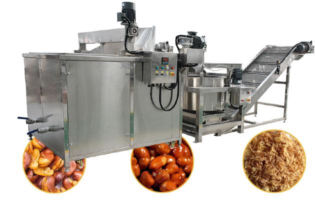 Commercial Chin Chin Frying Machine Gas Heating